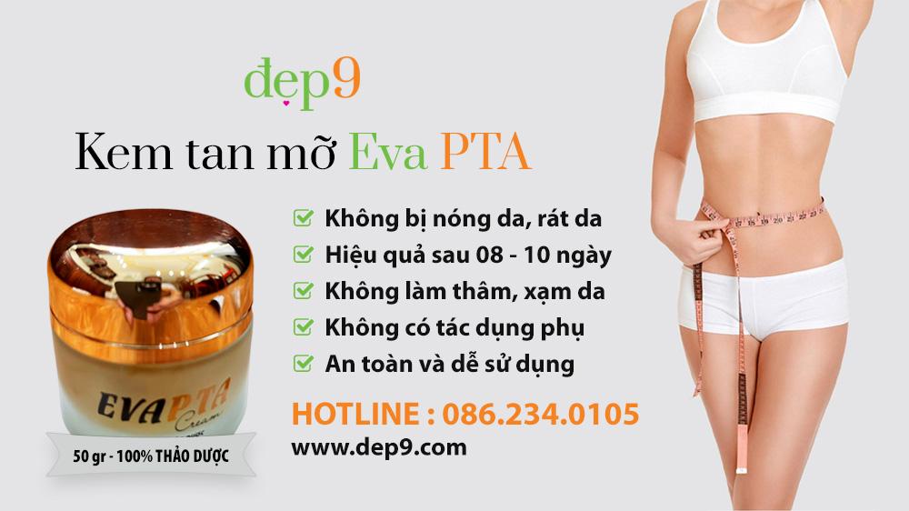 Banner kem tan mỡ Eva PTA